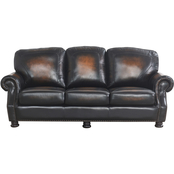 Abbyson Saticoy Hand Rubbed Leather Sofa