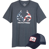 Realtree Patriotic Tee and Matching Cap Set