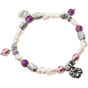 Alex and Ani Wildflower Beaded Charm Stretch Bracelet