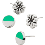 Alex and Ani Color Infusion Four Leaf Clover Earrings