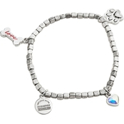 Alex and Ani Prints of Love Multi Charm Stretch Bracelet