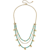 Canvas Goldtone Layered Coin Necklace