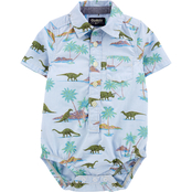 OshKosh B'gosh Infant Boys Dinosaur Button Front Bodysuit