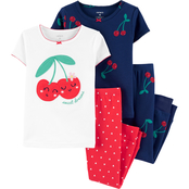 Carter's Infant Girls 4 pc. Cherry Snug Fit Cotton Pajamas Set