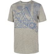 adidas Toddler Boys Statement Badge of Sport Poly Mel Tee