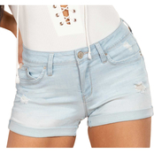 YMI Mid Rise Double Rolled Cuff Shorts