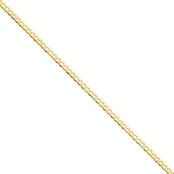14K Yellow Gold 2.9mm Beveled Curb Chain Bracelet