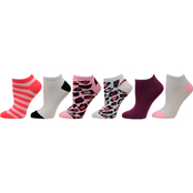 Betsey Johnson Leopard Low Cut Socks 6 pk.