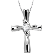 Sirena 14K 1/10 CTW Diamond Cross Pendant