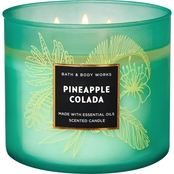Bath & Body Works Island Living Colored Glass 3 Wick Candle, Pineapple Colada