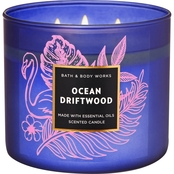 Bath & Body Works Island Living Colored Glass 3 Wick Candle, Ocean Driftwood