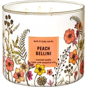 Bath & Body Works Beyond Garden Wall 3 Wick Candle, Peach Bellini