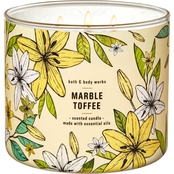 Bath & Body Works Beyond Garden Wall 3 Wick Candle, Marble Toffee