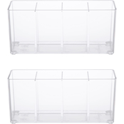 Kenney Storage Made Simple Bathroom 4 Compartment Organizer with Lid
