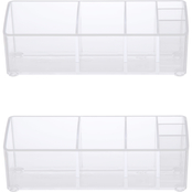 Kenney Storage Made Simple Bathroom Countertop 6 Compartment Organizer 2 pk.