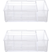 Kenney Storage Made Simple 8 Compartment Expandable Drawer Organizer Tray, Set of 2