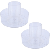 Kenney Storage Made Simple Lazy Susan 360 Rotating Countertop Organizer 2 pk.