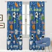 Royale Linens Game Day Window Panel Pair 48 in. x 84 in.