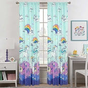Royale Linens Magical Unicorn Window Panel Pair 48 in. x 84 in.