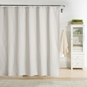 Realeza Raphaela European Matelasse Shower Curtain