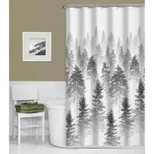 Zenna Home Tree Line Fabric Shower Curtain