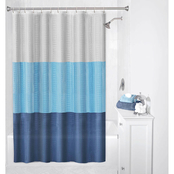 Zenna Home Colorblock PEVA Shower Curtain