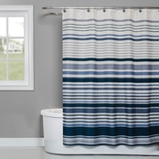 Saturday Knight LTD Cubes Stripe Fabric Shower Curtain