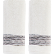 Saturday Knight LTD Geo Hand Towel in White 2 pk.