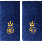 Saturday Knight LTD Gilded Pineapple Hand Towel 2 pk.