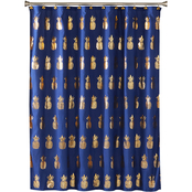 Saturday Knight LTD Gilded Pineapple Fabric Shower Curtain