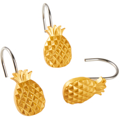 Saturday Knight LTD Gilded Pineapple Shower Curtain Hooks