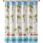 Saturday Knight LTD Paradise Beach Fabric Shower Curtain