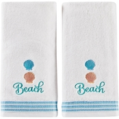 Saturday Knight LTD South Seas Hand Towel in White 2 pk.