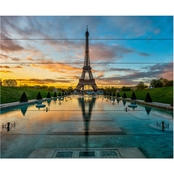 Trademark Fine Art Mathieu Rivrin 'Sunrise in Paris' Wood Slat Art