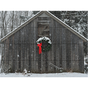Trademark Fine Art Kurt Shaffer 'Christmas Barn in the Snow' Wood Slat Art