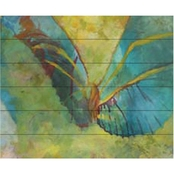 Trademark Fine Art Rickey Lewis 'Butterflight' Wood Slat Art