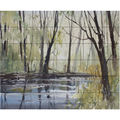 Trademark Fine Art Ryan Radke Pine River Reflections Wood Slat Art