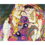 Trademark Fine Art Gustav Klimt 'Virgins' Wood Slat Art