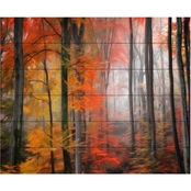 Trademark Fine Art Philippe Sainte Laudy Wildly Red Wood Slat Art