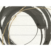 Trademark Fine Art Chris Paschke Gilded Enso IV Wood Slat Art