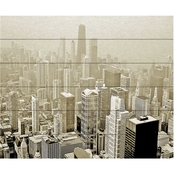 Trademark Fine Art Preston 'Chicago Skyline' Wood Slat Art