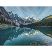 Trademark Fine Art Pierre Leclerc Moraine Lake Reflection Wood Slat Art