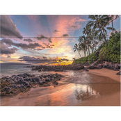Trademark Fine Art Pierre Leclerc 'Hawaiian Sunset Wonder' Wood Slat Art