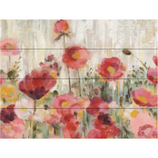 Trademark Fine Art Silvia Vassileva 'Sprinkled Flowers Crop' Wood Slat Art