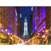Trademark Fine Art Philippe Hugonnard City Hall Philadelphia Wood Slat Art
