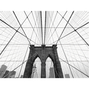 Trademark Fine Art Nina Papiorek NYC Brooklyn Bridge Wood Slat Art