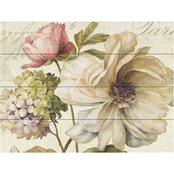 Trademark Fine Art Lisa Audit Marche de Fleurs II Wood Slat Art