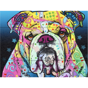 Trademark Fine Art Dean Russo The Bulldog Wood Slat Art