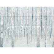 Trademark Fine Art Julia Purinton Birches in Winter Blue Gray Wood Slat Art