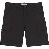 Buzz Cuts Little Boys Textured Fabric Cargo Shorts